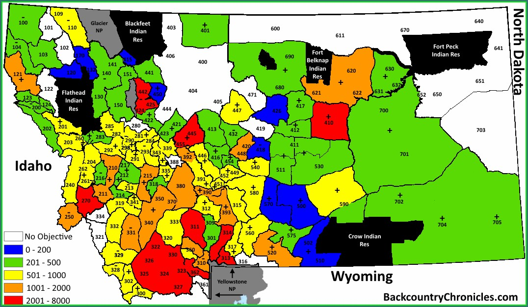 Wyoming Elk Hunting Units Map