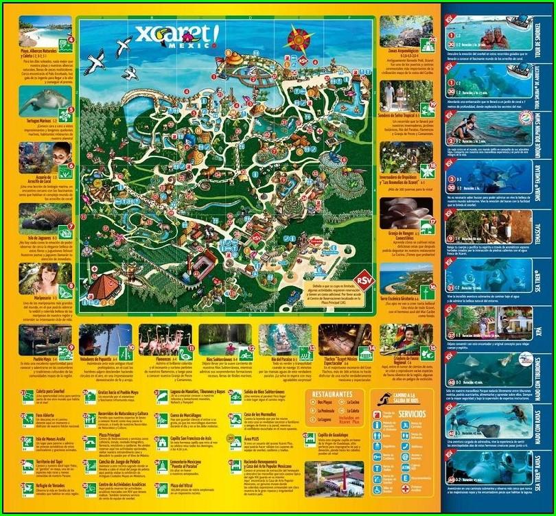 Xcaret Map 2019 Pdf