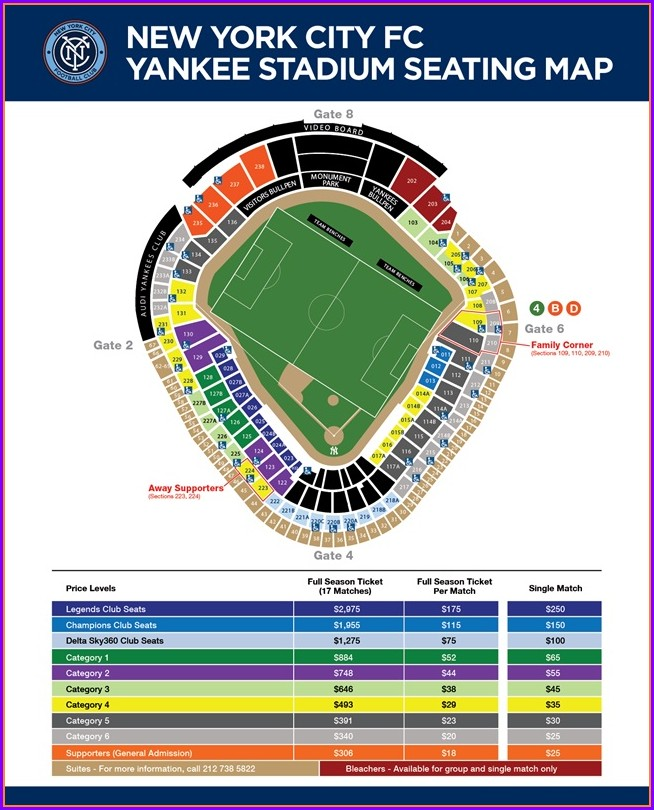 Yankee Stadium Suite Entrance Map