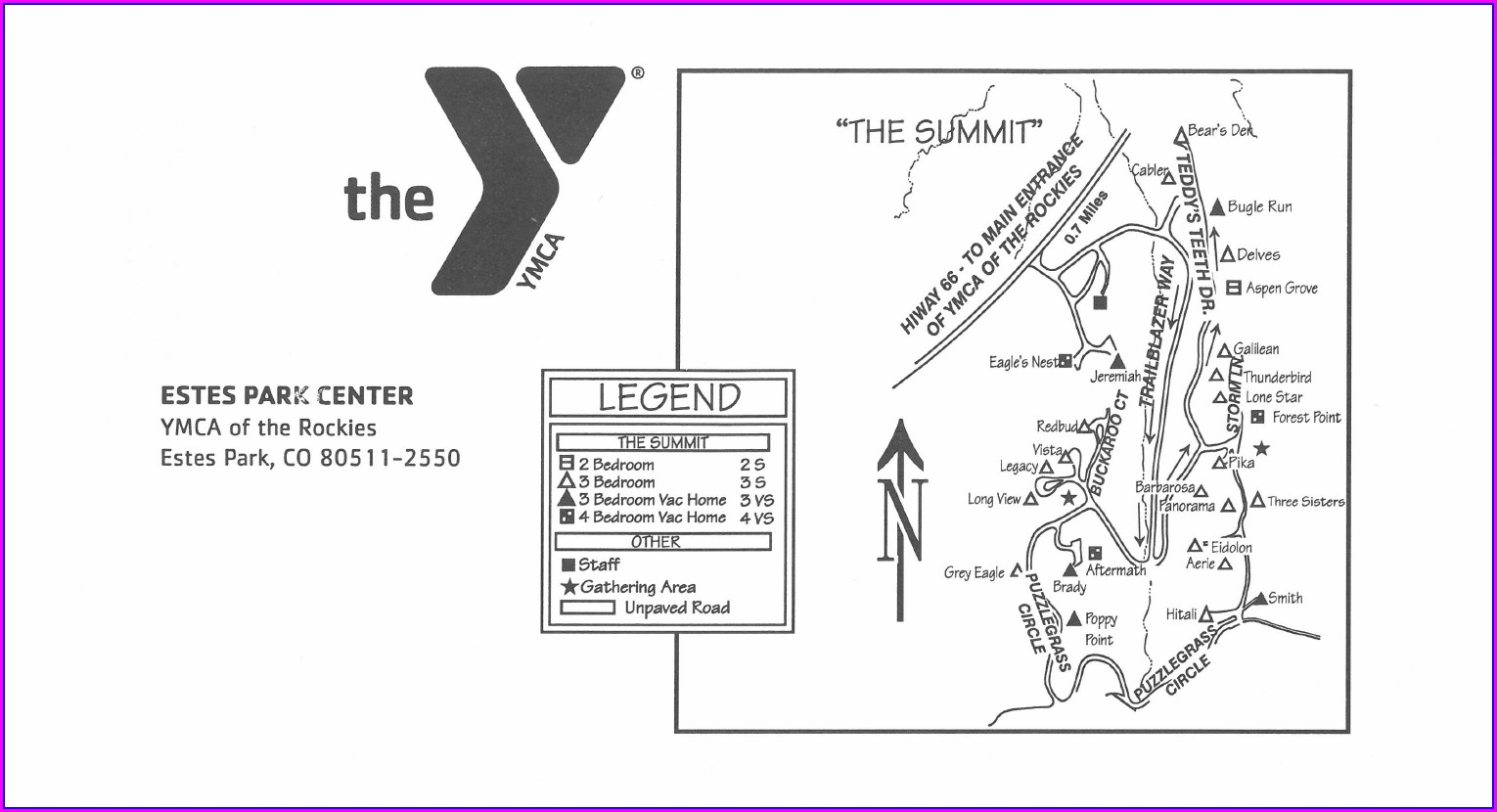 Ymca Of The Rockies Cabin Map