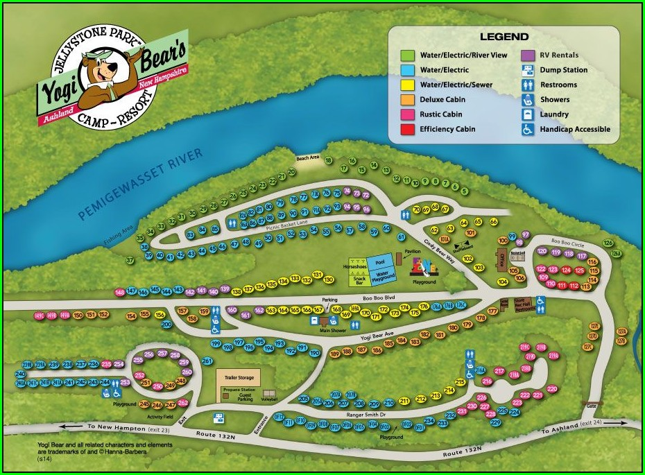 Yogi Bear Campground Map