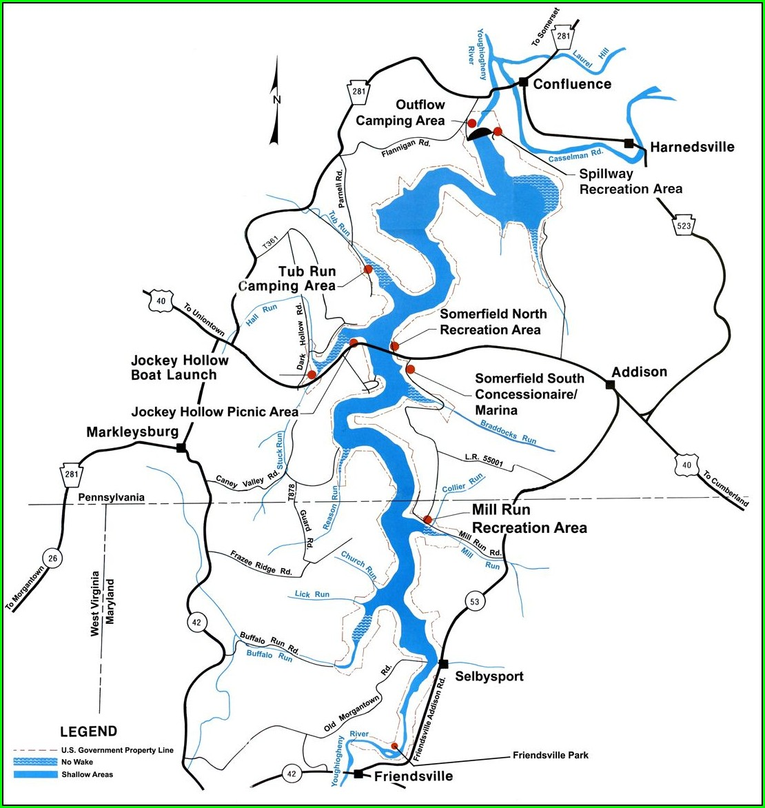 Youghiogheny River Rapids Map