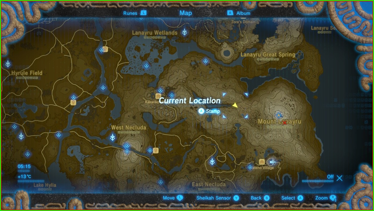 Zelda Botw Memory Locations Map
