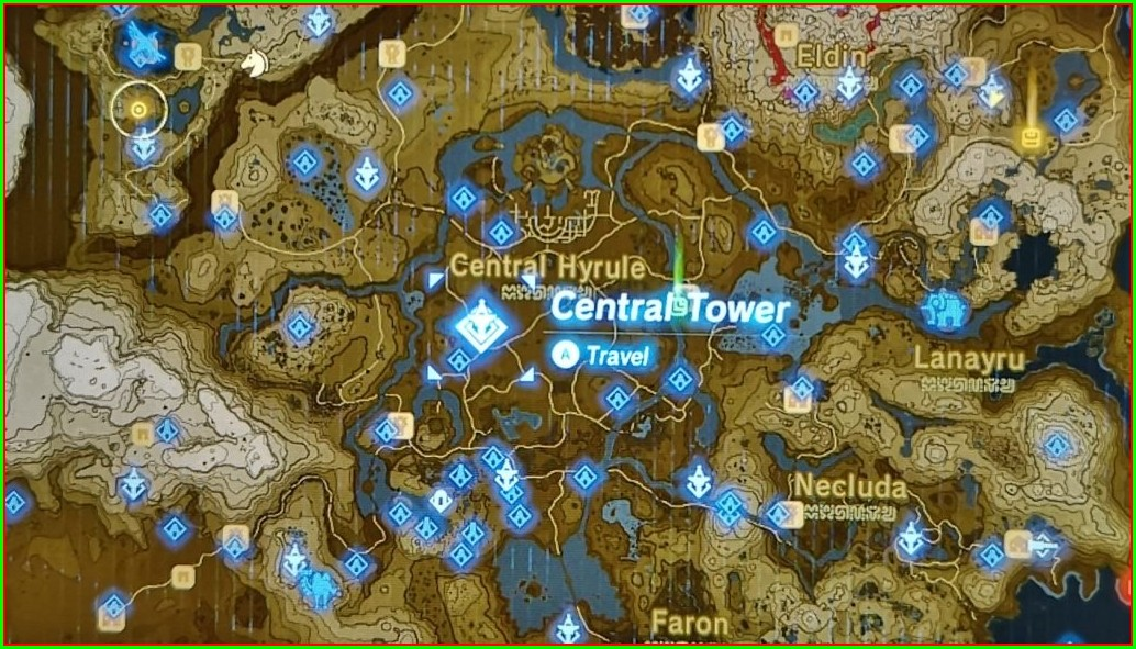 Zelda Botw Tower Locations Map