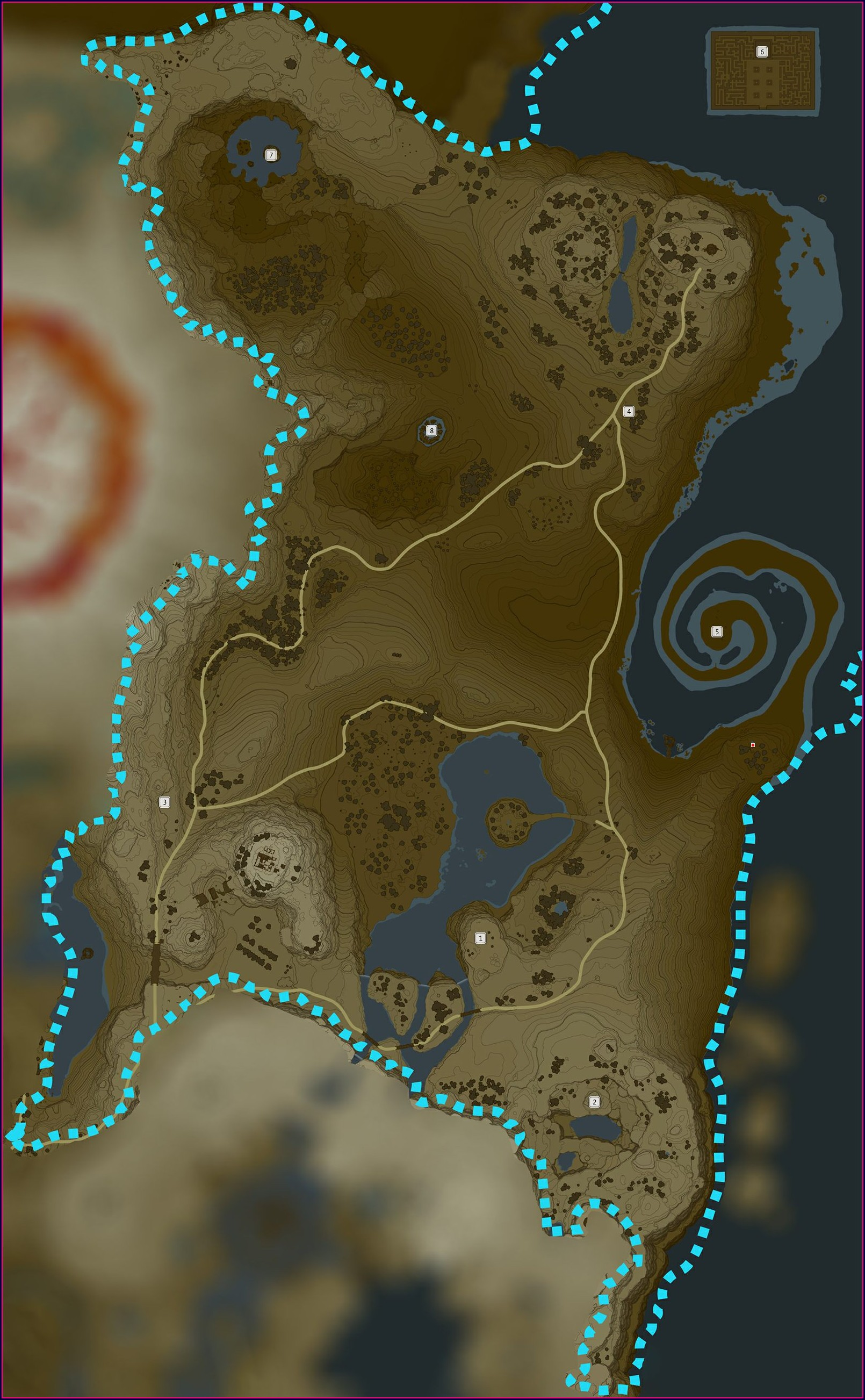 Zelda Map Breath Of The Wild Shrines
