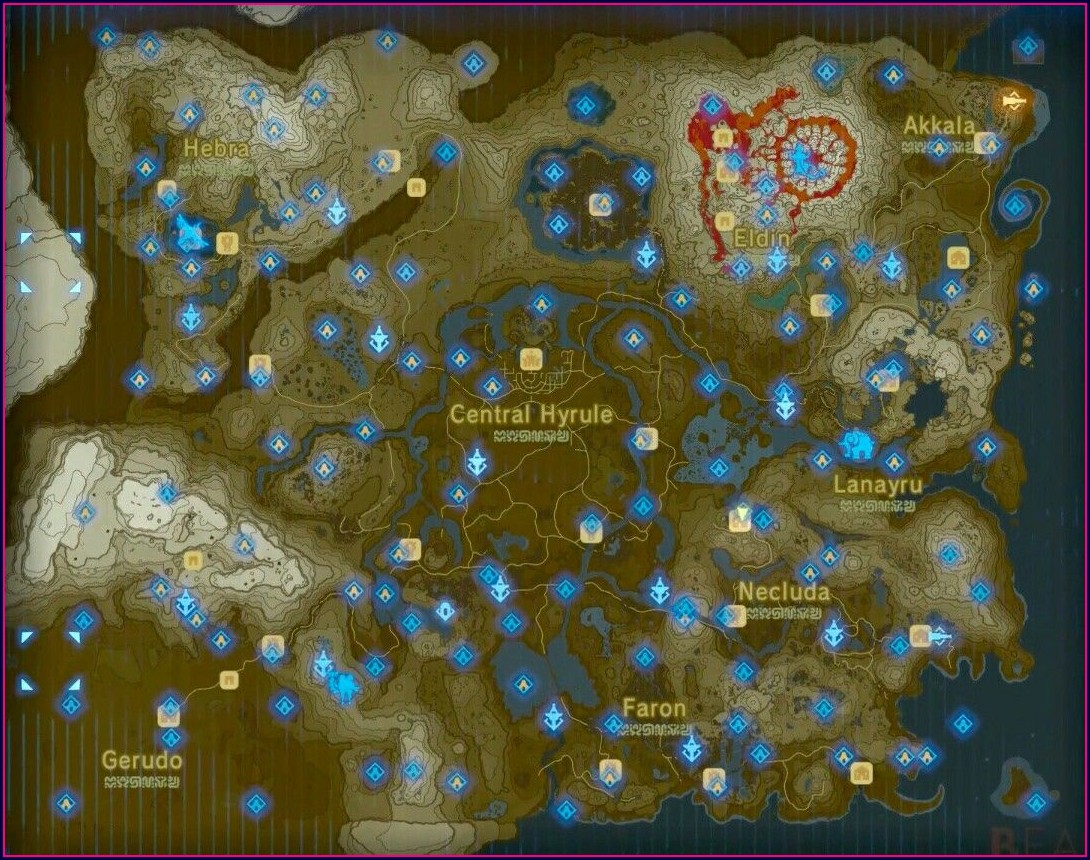 Zelda Map Breath Of The Wild