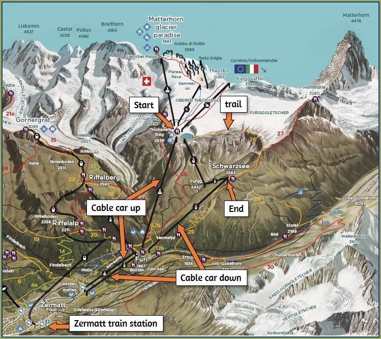 Zermatt Trail Map Summer