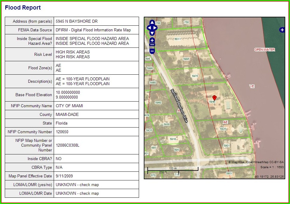 Zip Code Miami Dade Flood Zone Map