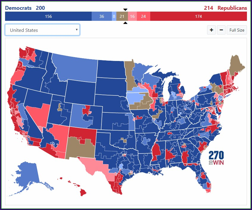 2020 House Elections Map