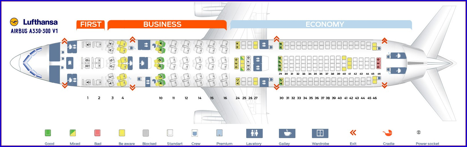 333 Airplane Seat Map
