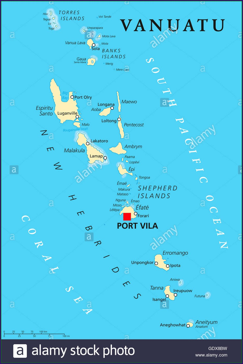 Accommodation In Port Vila Map