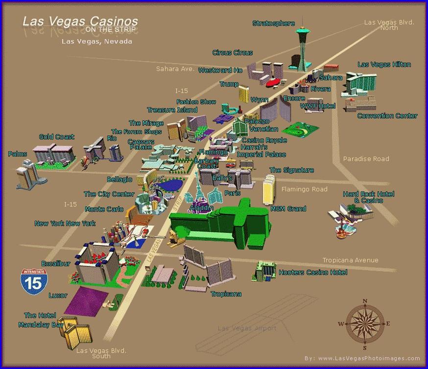 Aerial Map Of Las Vegas Strip Hotels