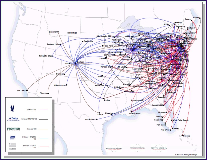 Alaska Airlines Interactive Route Map