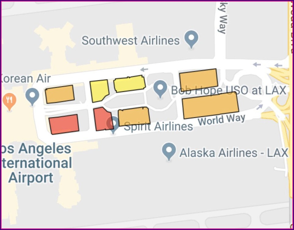 Alaska Airlines Lax Airport Map