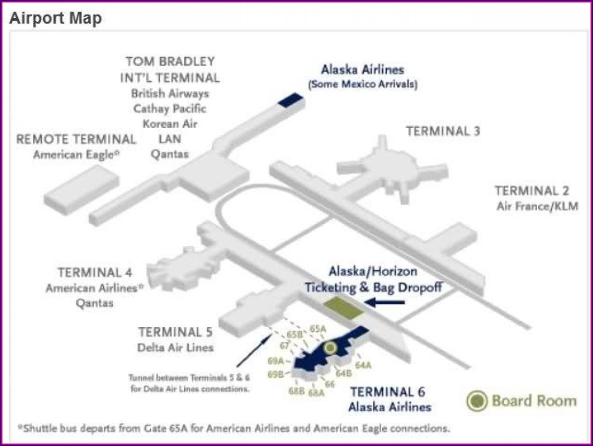 Alaska Airlines Lax Terminal Map