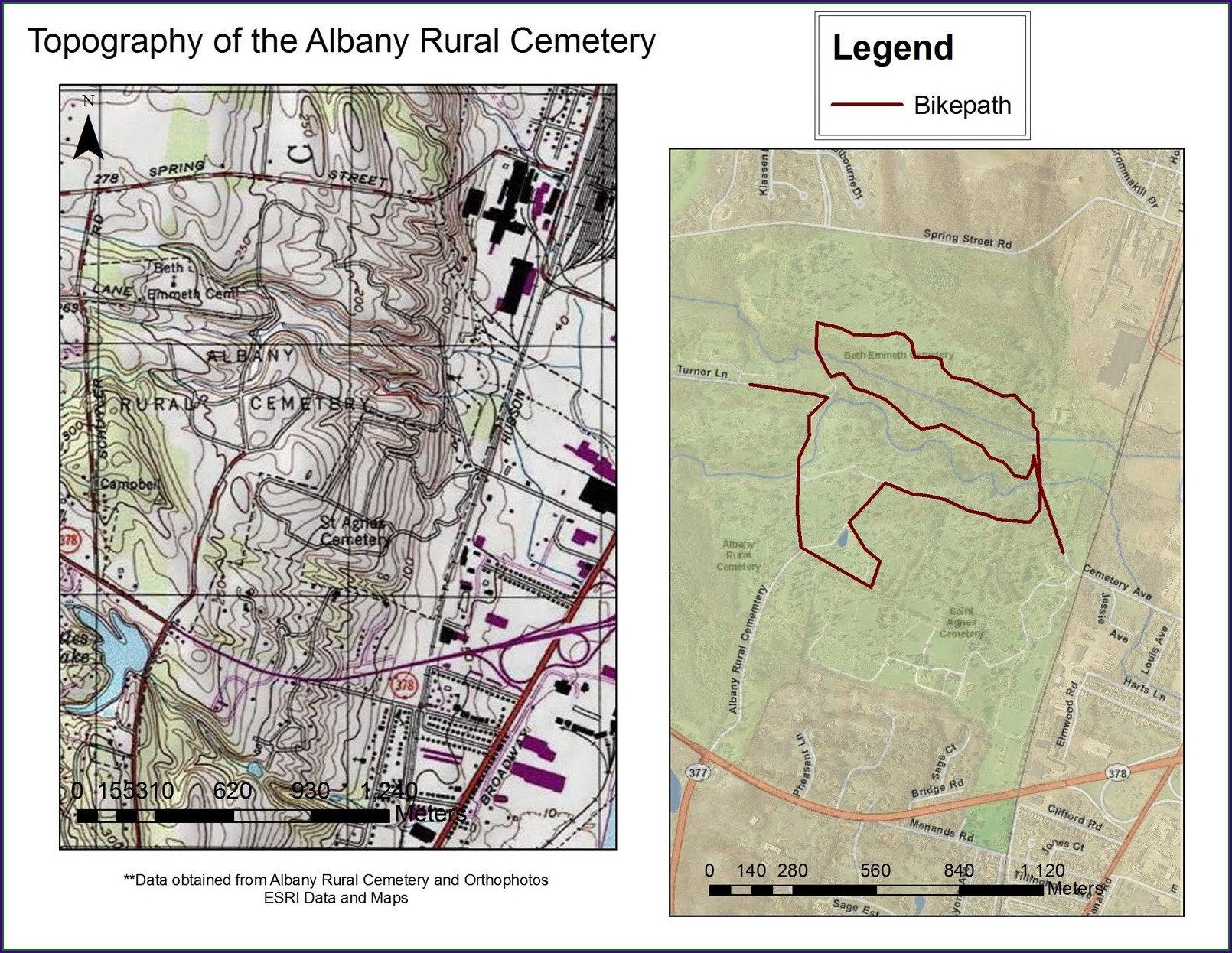 Albany Rural Cemetery Map