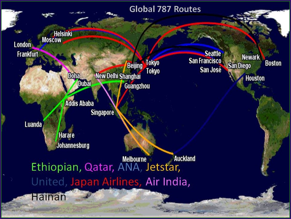 All Nippon Airways Route Map