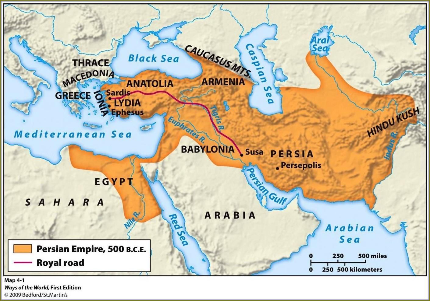 Ancient Medo Persian Empire Map
