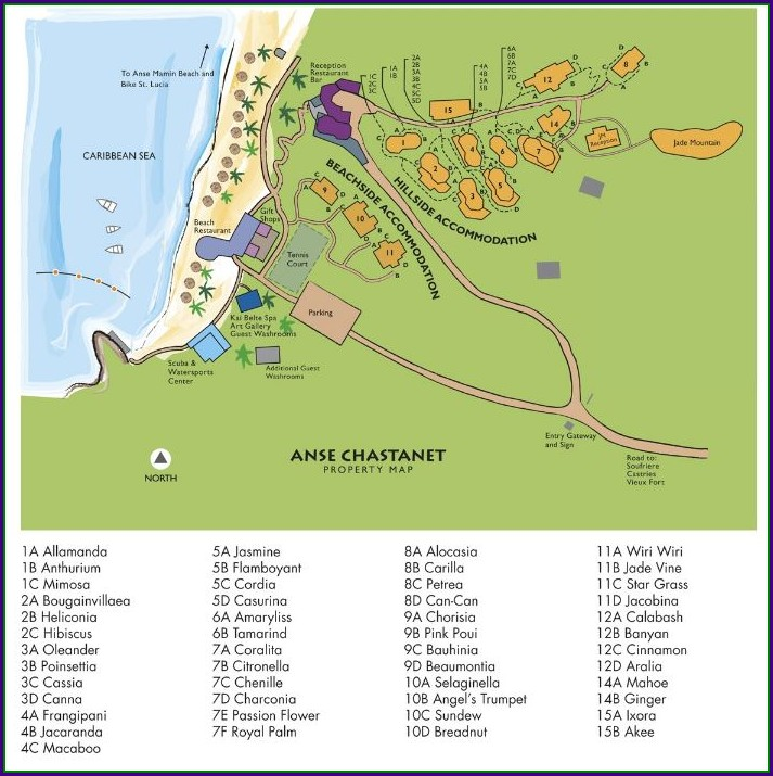 Anse Chastanet Resort Map