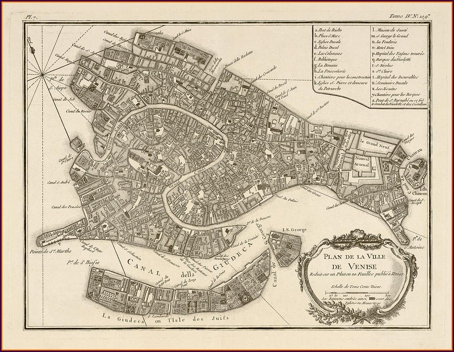 Antique Map Of Venice
