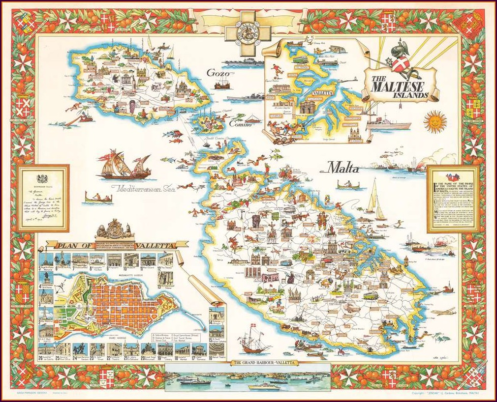 Antique Maps Of Malta For Sale