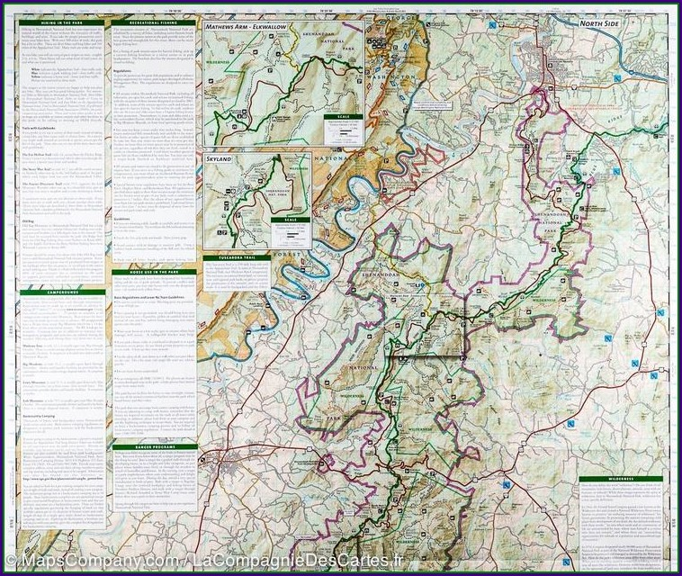 Appalachian Trail Skyline Drive Map