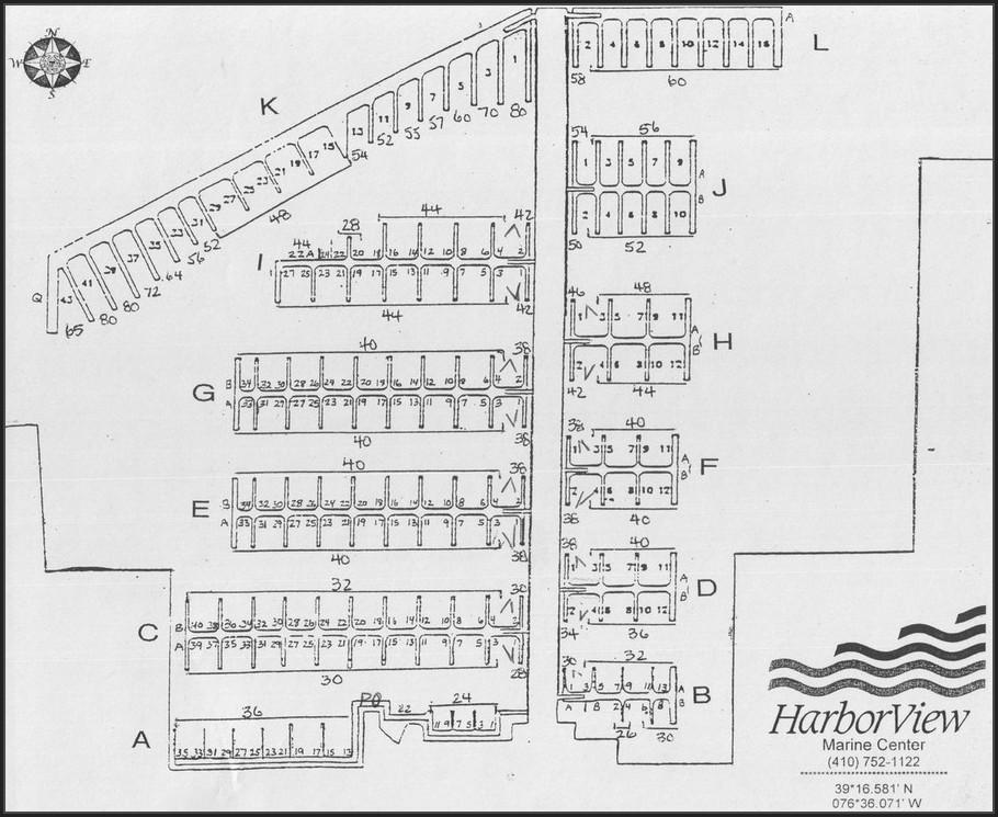 Aqualand Marina Dock Map