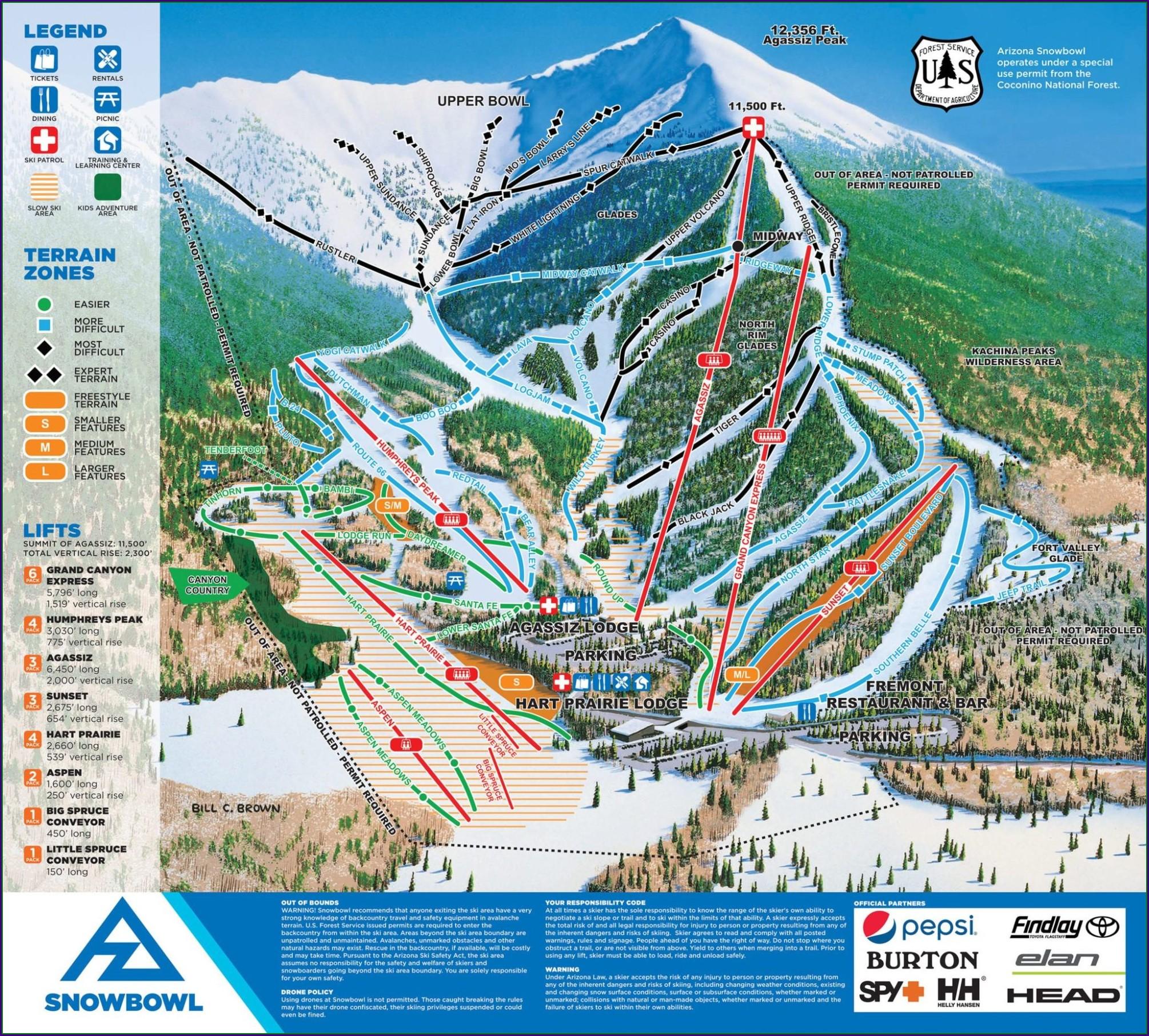 Arizona Ski Resorts Map