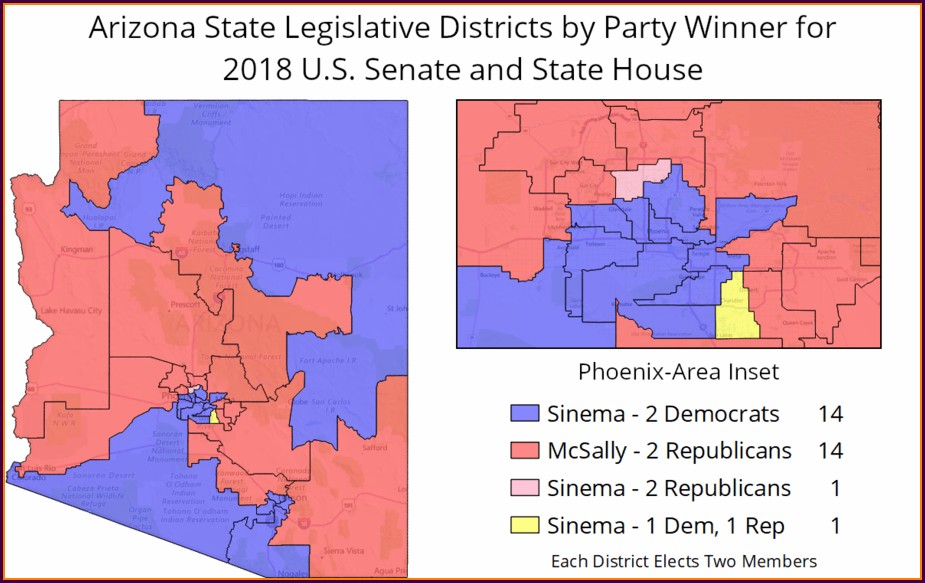 Arizona State Voting Districts Map