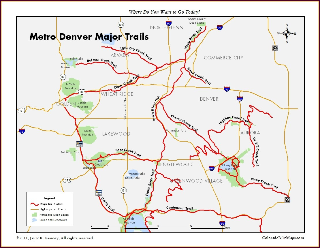 Arvada Bike Trail Map