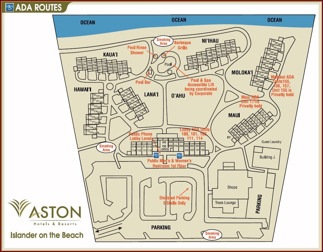 Aston Islander On The Beach Map
