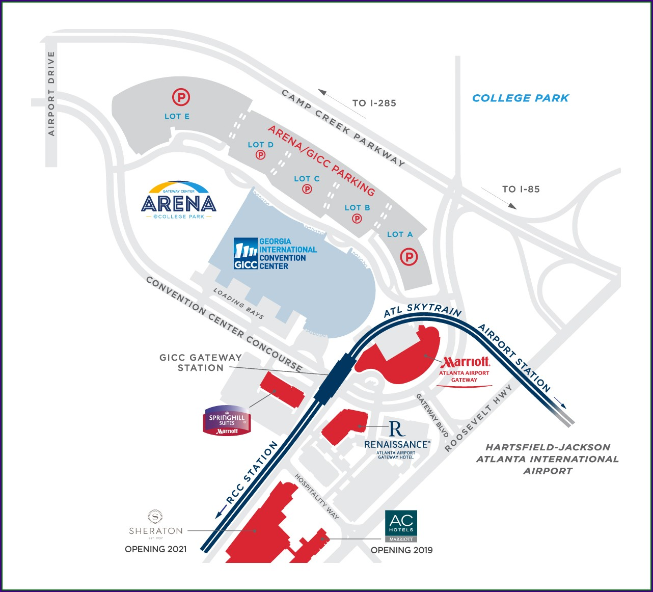 Atlanta International Terminal Parking Map
