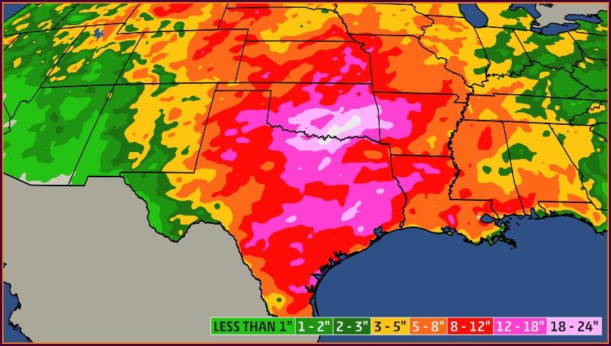 Austin Texas Weather Map