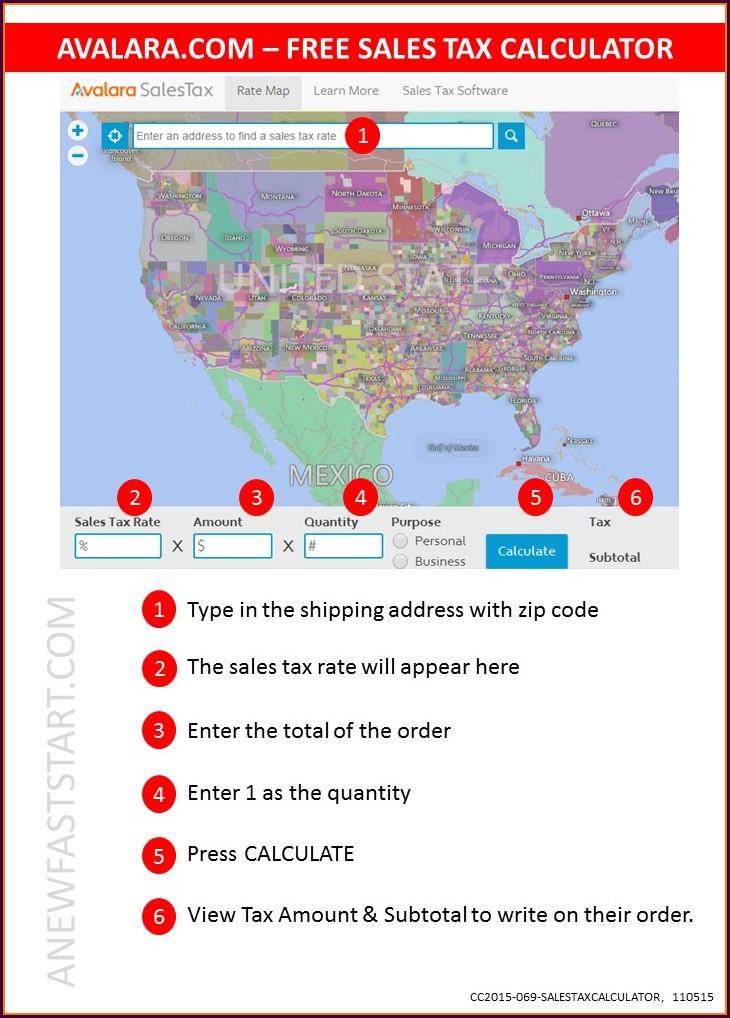 Avalara Sales Tax Map