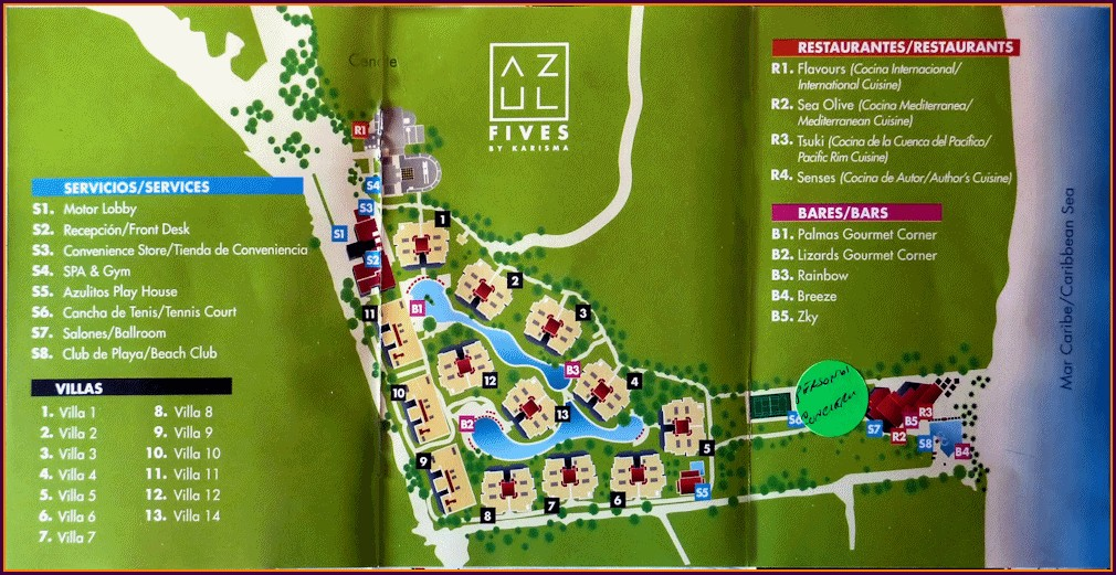 Azul Fives Resort Map