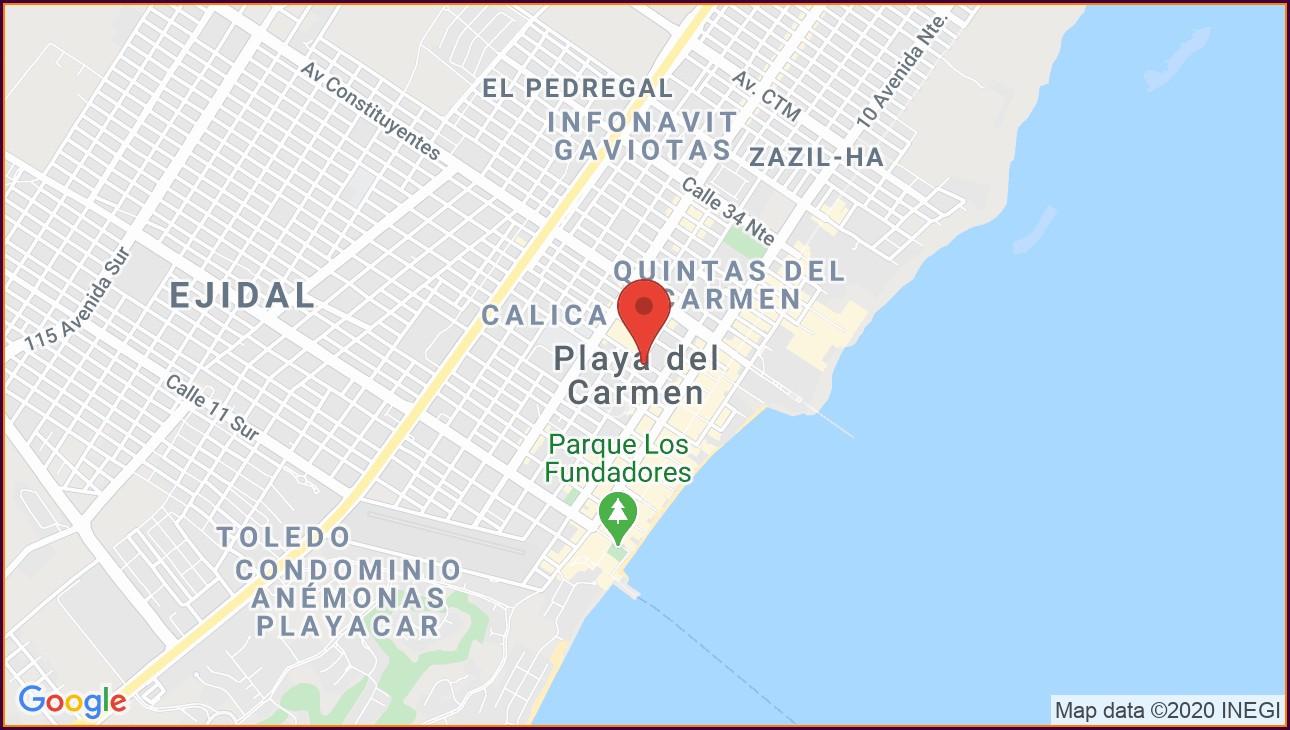 Barcelo Playa Del Carmen Map