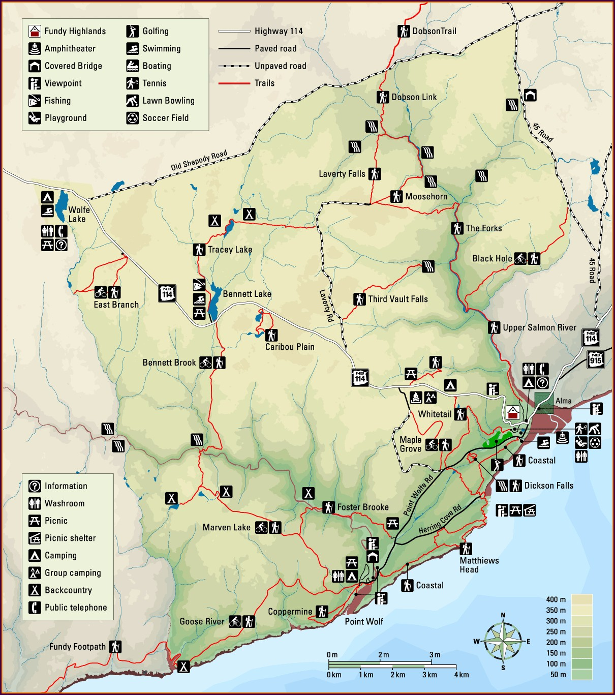 Bay Of Fundy National Park Map