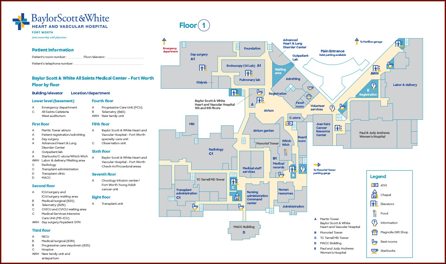 Baylor Scott And White Temple Hospital Map