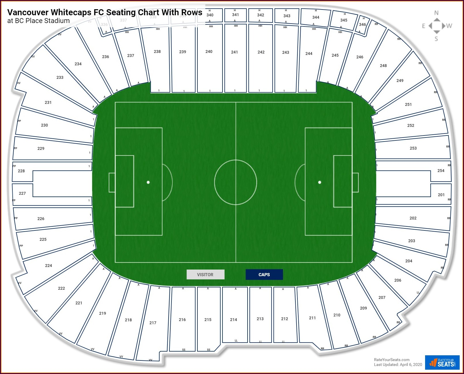 Bc Place Seat Map Whitecaps