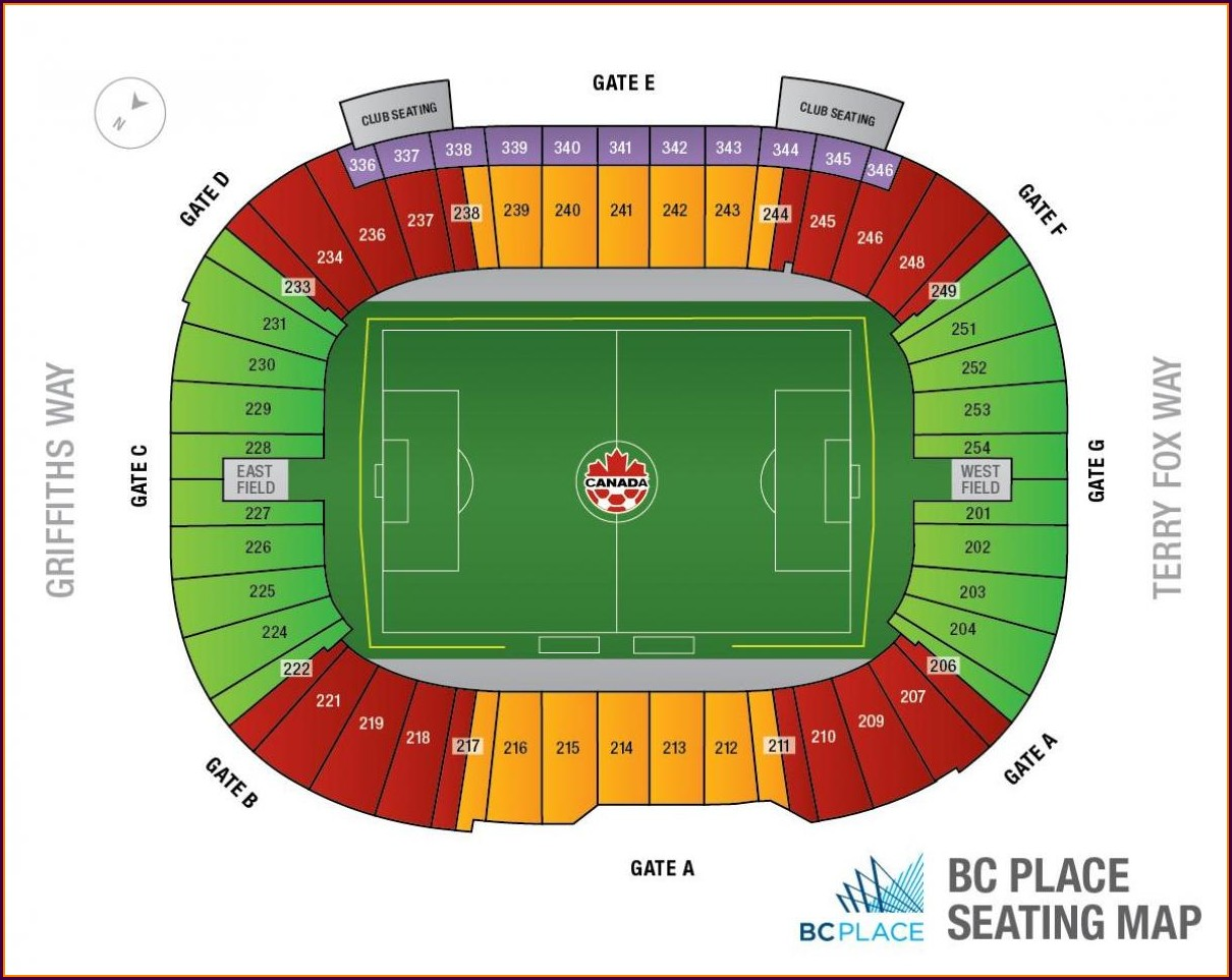 Bc Place Seat Map