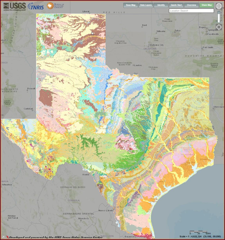 Bedrock Depth Map Usgs