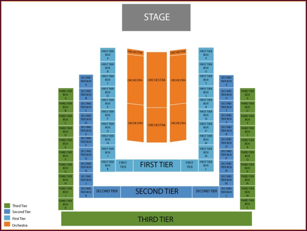 Benaroya Hall Seat Map