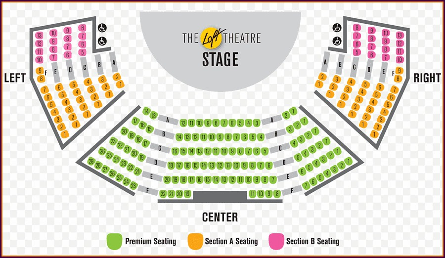 Benedum Center Seat Map