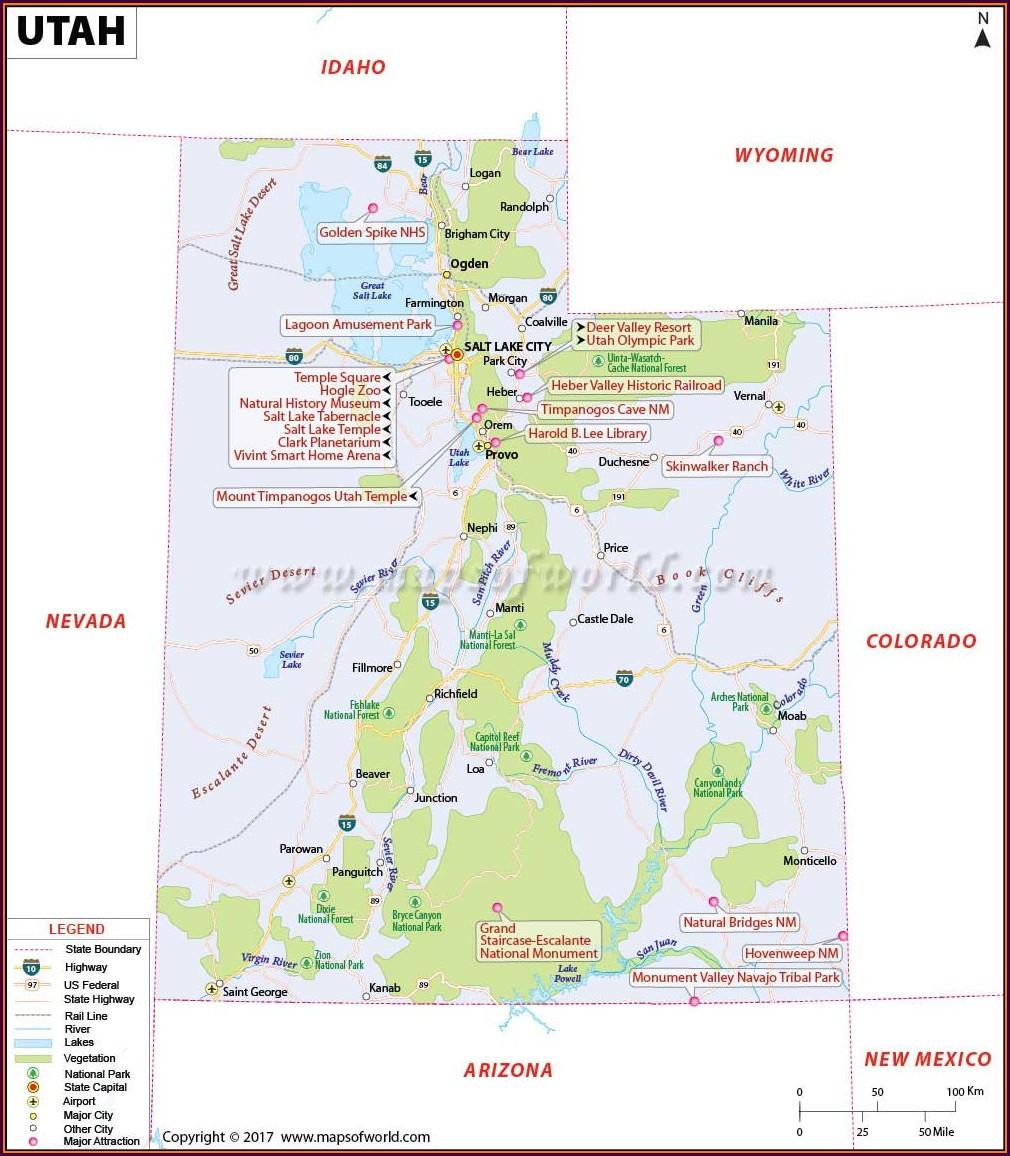 Best Western Utah Map