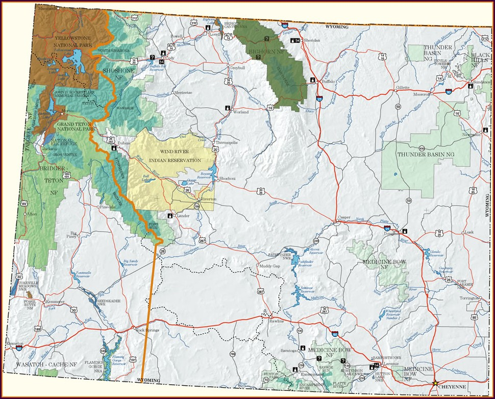 Bighorn National Forest Campground Map