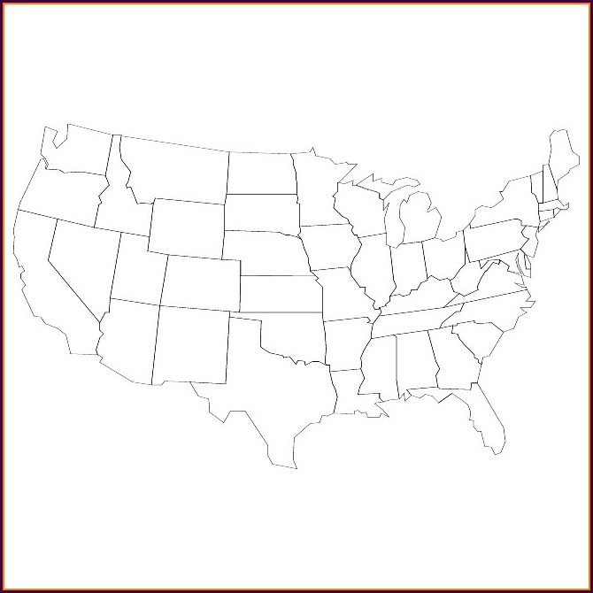 Blank Us Map Vector