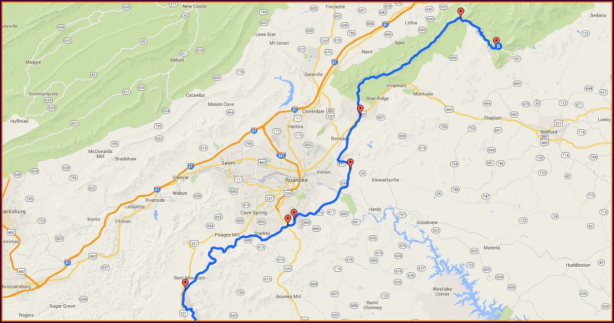 Boone Nc Blue Ridge Parkway Map