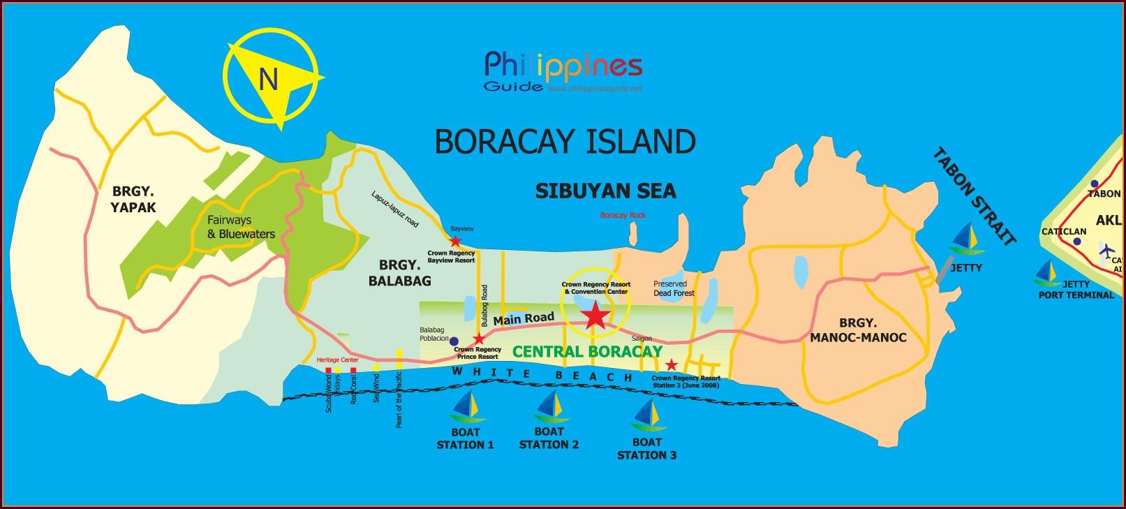 Boracay Station 1 Map Resorts