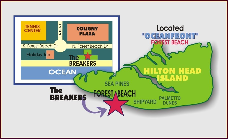 Breakers Hilton Head Property Map