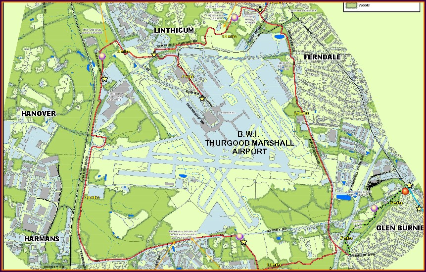 Bwi Bike Trail Map